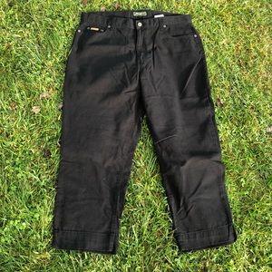Eddie Bauer crop black jeans 16P